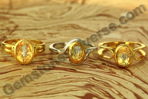 Birthstone Astrology Yellow Sapphire rings Pukhraj rings for Noble and pure Jupiter enegies the Gems for Pisces and Sagittarius sign