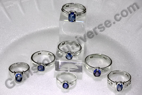 Blue Sapphire rings for Saturn powers as per Indian Astrology Gemstone Therapy
