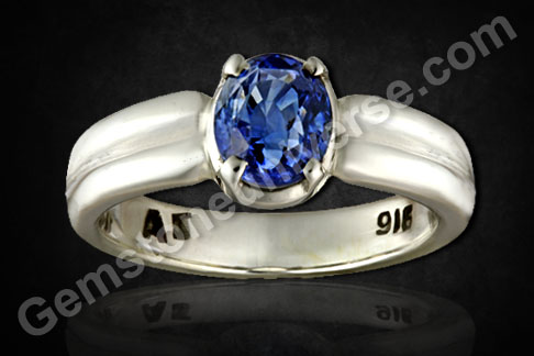 Cornflower Blue Sapphire ring  for superior Saturn energy Neelam the Gem of Shani in Vedic Astrology Gems