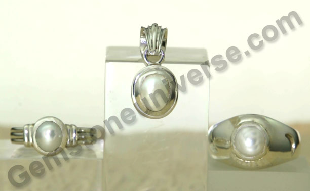 Pearl rings pearl pendant natural marine pearls natural oyster pearl as per Indian Vedic Gem therapy