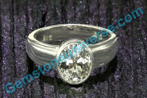 White Sapphire ring for Venus White Sapphire stone  for Venus  Vedic Energies