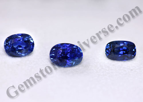 Natural Blue Sapphires with Royal Blue Color