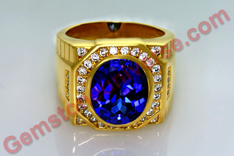 Blue Sapphire unheated natural Burma Blue Sapphire with Royal Blue Color. A Jyotish Gem