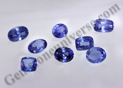 Cornflower Blue Colored Natural Blue Sapphires Lot from Sri Lanka