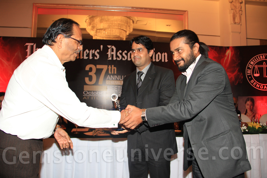 Mr. Raghav Hawa & Mr. S Ananthram Gemstoneuniverse core team members receiving the Excellence in exports award