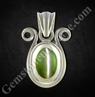 Natural Chrysoberyl Cats-eye of 3.85carats. Gemstoneuniverse.com