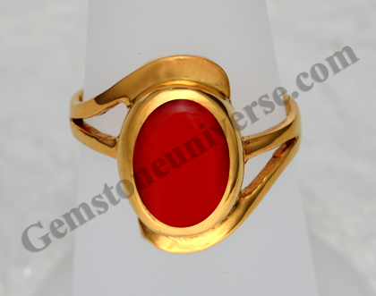 Natural Organic Red Coral of 4.44carats Gemstoneuniverse.com