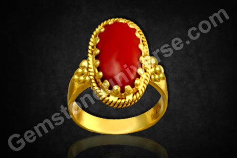 Natural Organic Red Coral of 7.57 carats Gemstoneuniverse.com
