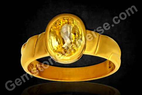 Natural Untreated Ceylon Yellow Sapphire of 2.57 carats Gemstoneuniverse.com
