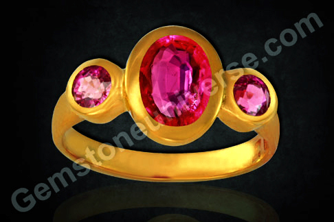 Ruby Gem of Sun as per Indian Vedic Astrology Unheated ruby for Sun power in Navratna Gem Therapy