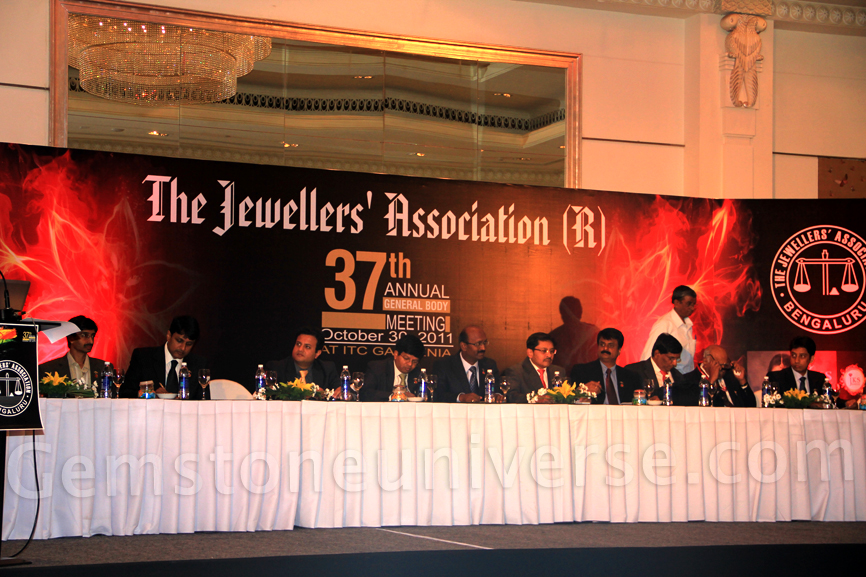 The 37th AGM in progress of JAB at ITC Royal Gardenia Bangalore
