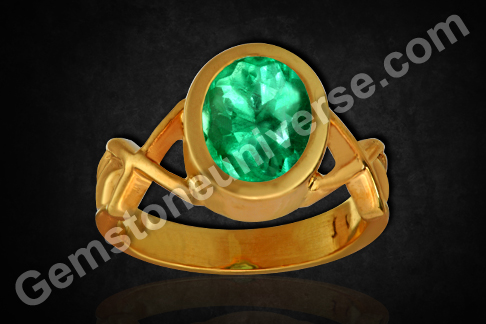 Colombian Emerald of 2.29 carats set in 22KDM Gold Ring