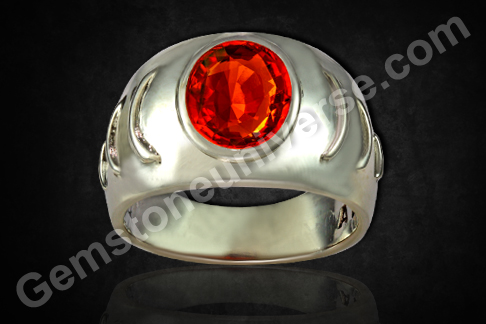 Hessonite Garnet Rings Cinnamonstone Birthstone Jewelry