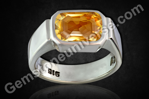 Imperial Golden Yellow Topaz of 3.78 carats for Jupiter Vedic Energies