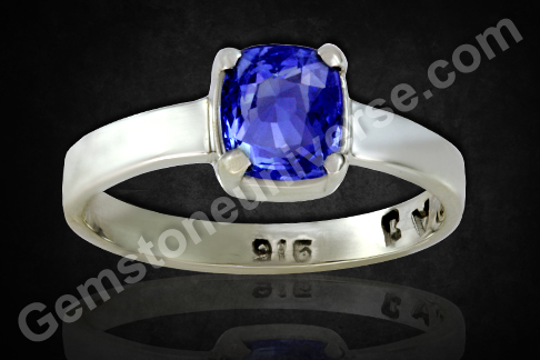 Indraneelam Blue Sapphire with Violet Tone Vedic Gemstone for Saturn
