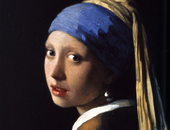 Johannes Vermeer's - The Girl with the Pearl Earring; the cornflower blue color is ever present
