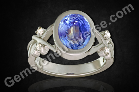Natural Unheated Blue Sapphire of 3.71 carats Gemstoneuniverse