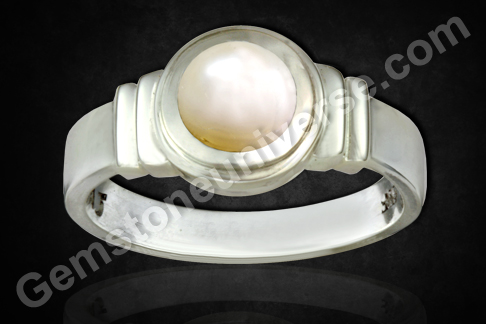 Pearl ring Australian Undrilled Pearl for Moon Energies