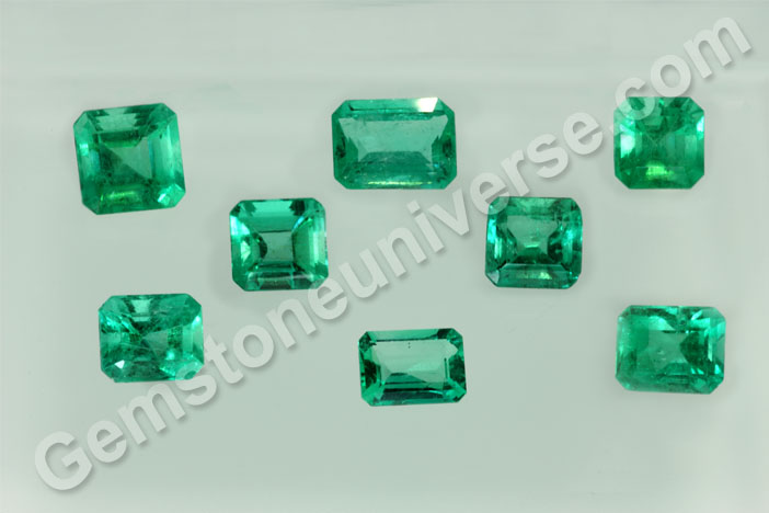 Portion of the New Lot of Natural Emeralds for Gemstoneuniverse Patrons