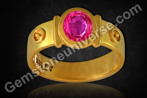 Vietnamese Ruby of 2.02 carat set in 22KDM Gold Ring