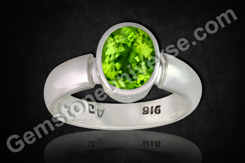 Natural China Peridot of 2.42 carats Gemstoneuniverse.com