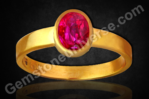 Natural Ruby of 1.02 Carats Gemstoneuniverse.com