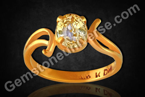 Natural Yellow Sapphire of 2.07carats Gemstoneuniverse.com