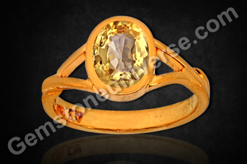 Natural Yellow Sapphire of 2.40 carats Gemstoneuniverse.com