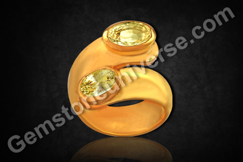 Natural Yellow Sapphire of 3.18 And 1.97 carats Gemstoneuniverse.com