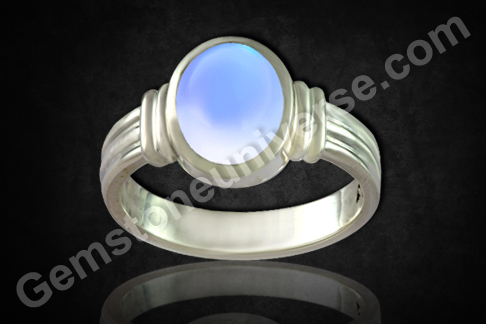 Natural Blue Moonstone of  5.18Carats Gemstoneuniverse.com