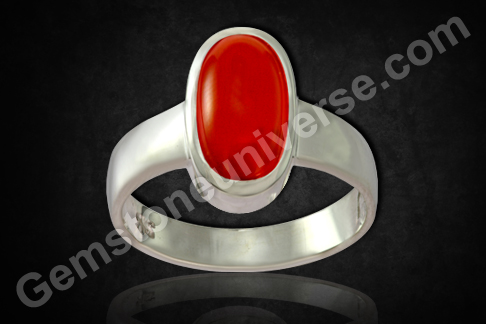 Natural Organic Red Coral of 4.49carats Gemstoneuniverse.com