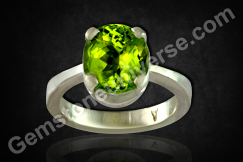 Natural Peridot of 2.45carats Gemstoneuniverse.com