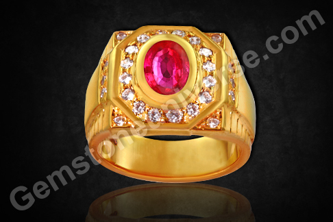 Natural Ruby of 1.67 Carats Gemstoneuniverse.com
