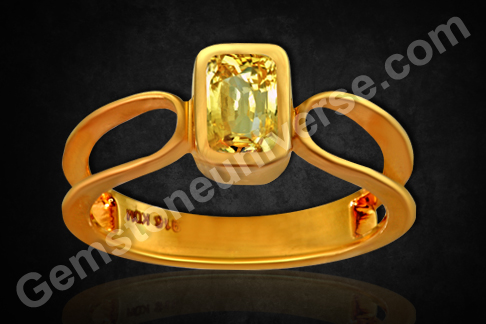 Natural Yellow Sapphire of 2.13 carats Gemstoneuniverse.com