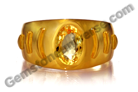 Natural Yellow Sapphire of  2.31carats Gemstoneuniverse.com