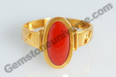 Natural Organic Red Coral of  4.96 carats Gemstoneuniverse.com
