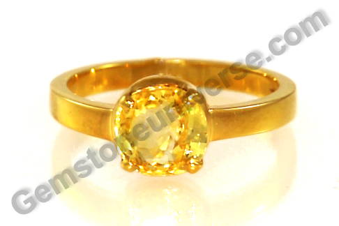 Natural Yellow Sapphire 3.03 carats from Gemstoneuniverse.com