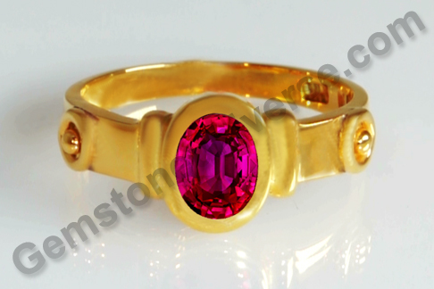 Natural Ruby of 1.47 Carats Gemstoneuniverse.com
