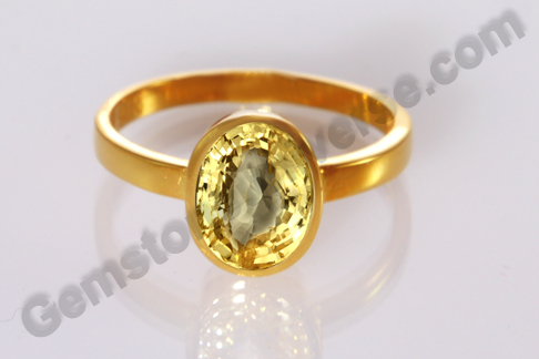 Natural Yellow Sapphire of 2.08 carats Gemstoneuniverse.com
