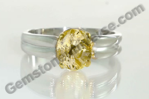 Natural Yellow Sapphire of 3.87 carats Gemstoneuniverse.com