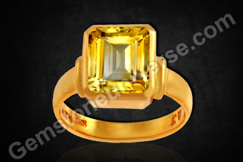 Imperial Golden Yellow Topaz of 5.84 carats for Jupiter Vedic Energies