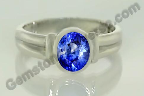 Natural Blue Sapphire of 3.65 carats Gemstoneuniverse