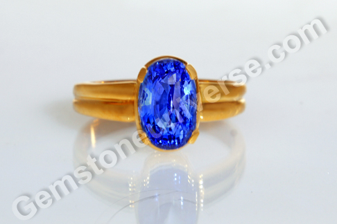 Natural Blue Sapphire of 4.49 carats Gemstoneuniverse