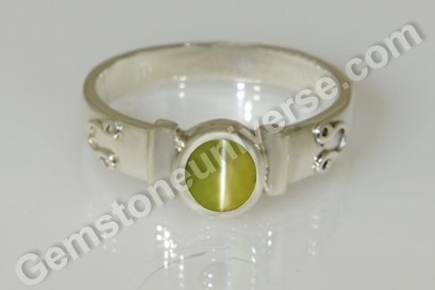 Natural Chrysoberyl Cats eye of 2.26 carats Gemstoneuniverse.com_