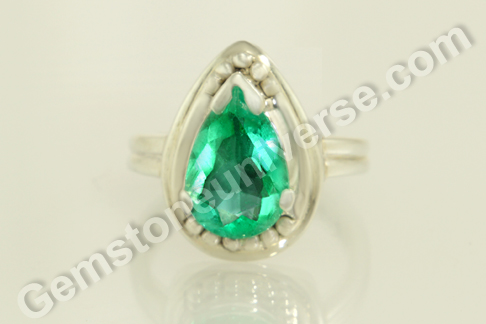 Natural Colombian Emerald of 1.79 carats Gemstoneuniverse.com