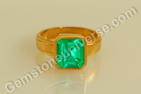Natural Colombian Emerald of  2.04 carats Gemstoneuniverse.com