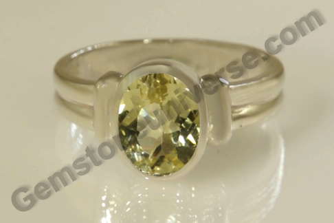 Natural Heliodor of  2.95 carats Gemstoneuniverse.com