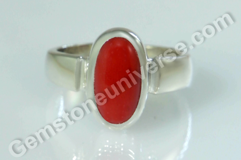 Natural Organic Red Coral of 4.23 carats Gemstoneuniverse.com