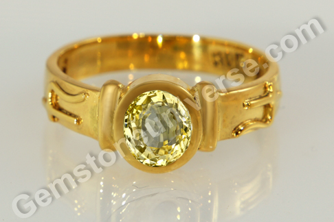 Natural Yellow Sapphire of 2.05 carats Gemstoneuniverse.com