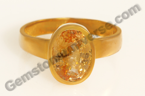 Natural Yellow Sapphire of 5.54 carats Gemstoneuniverse.com
